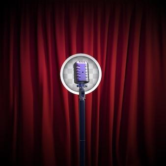 Canta música en vivo. representación 3d