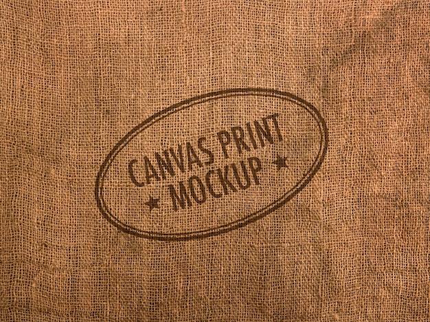 Canvas logo mockup
