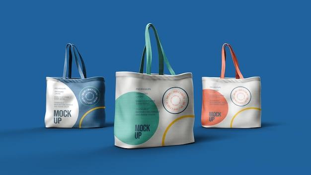 Canvas tassen mockup ontwerp geïsoleerd