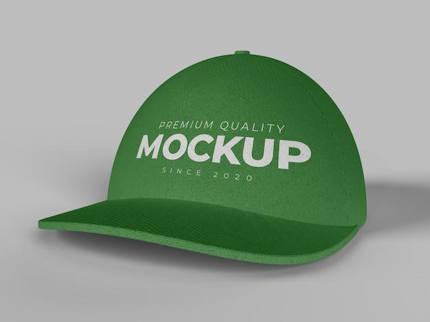 Cap mockup vooraanzichtclose-up