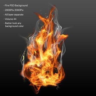 Capa de efecto de llamas de fuego
