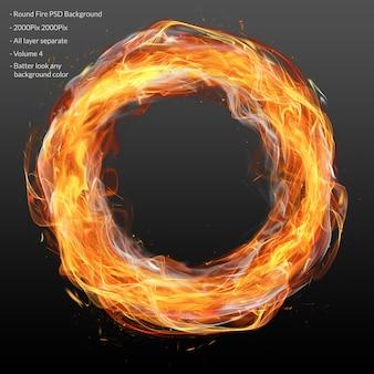 Capa de fuego circular
