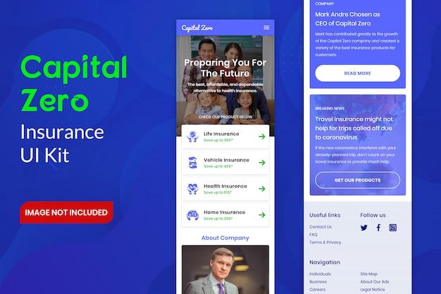 Capital zero insurance ui kit