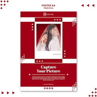 Capture su plantilla de impresión de póster de imagen