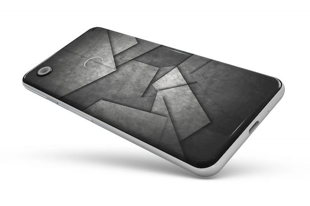 Carcasa de piel de smartphone aislada