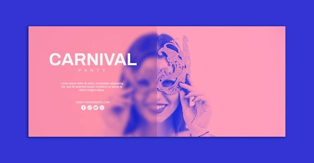 Carnaval banner mockup