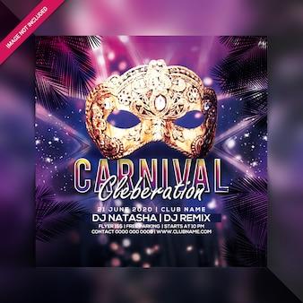 Carnaval feest flyer