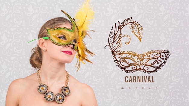 Carnaval-model met beeld van vrouw