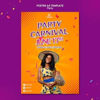 Carnaval partij afdruksjabloon