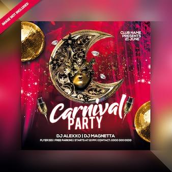 Carnaval partij flyer