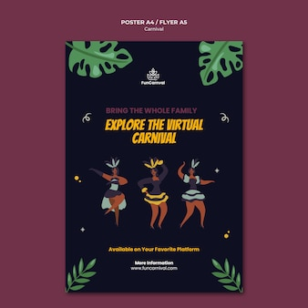 Carnaval poster sjabloon