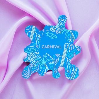 Carnevale brasiliano ritagliato su tessuto