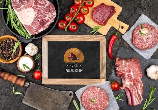 Carnicería con carne de hamburguesas