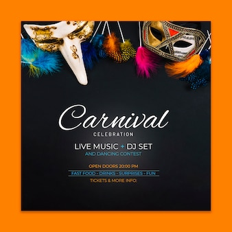 Carnival voorbladsjabloon