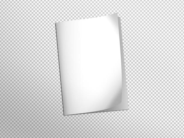 Carpeta blanca aislada