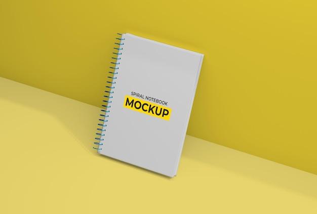 Carpeta espiral diseño de maqueta de cuaderno