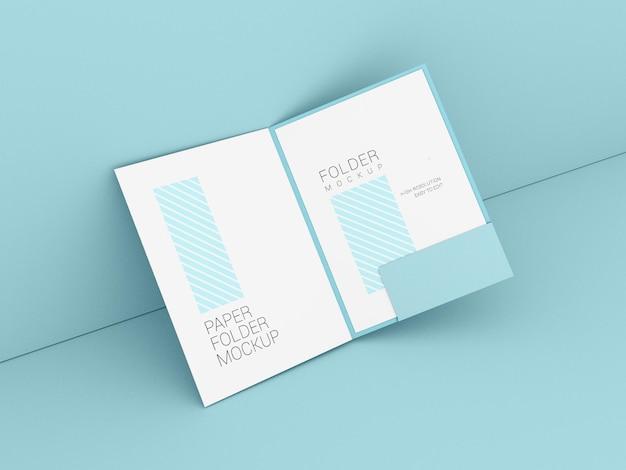 Carpeta de presentación con maqueta de papel a4