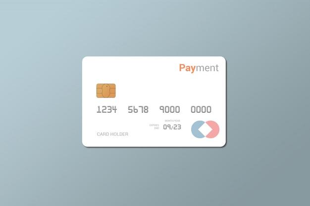 Carta di debito, carta di credito, mockup di smart card