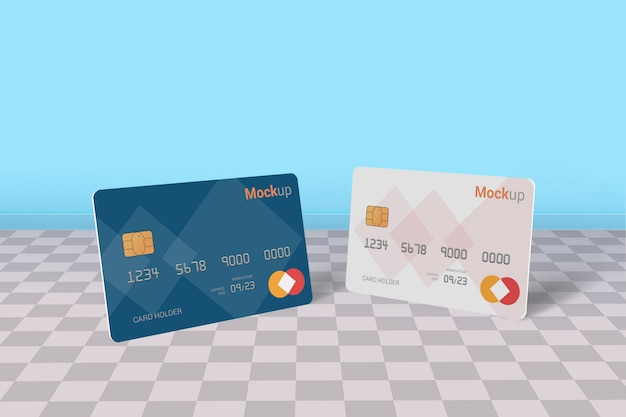 Carta di debito, carta di credito, smart card mock-up