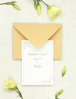 Carta di invito con busta