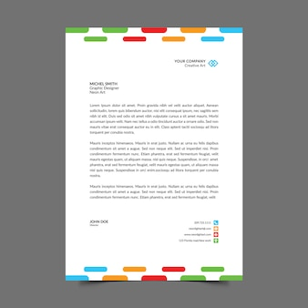 Carta intestata a4 colorata