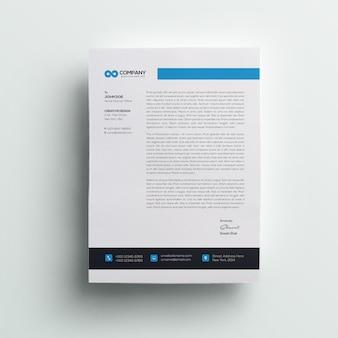 Carta intestata professionale dell'azienda