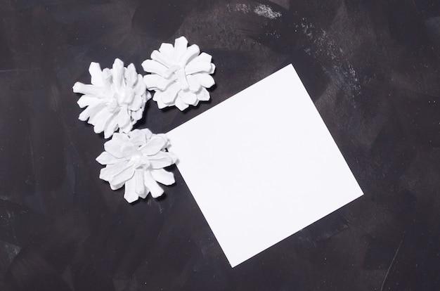 Carta quadrata del modello di natale