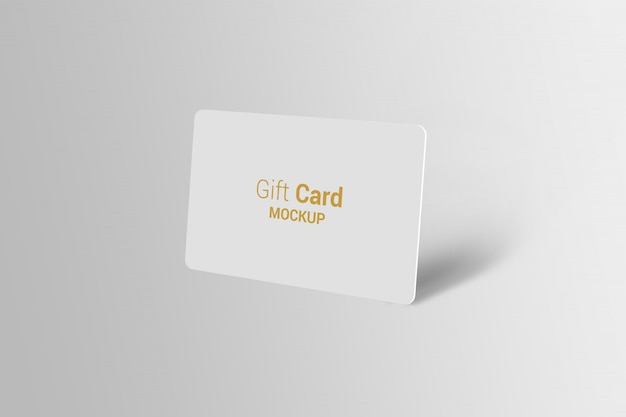 Carta regalo mock-up