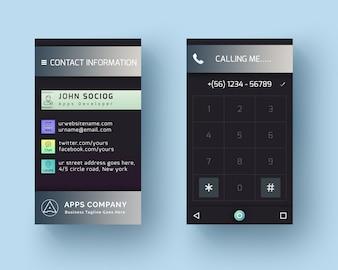 Cartão do estilo do telefone de Android