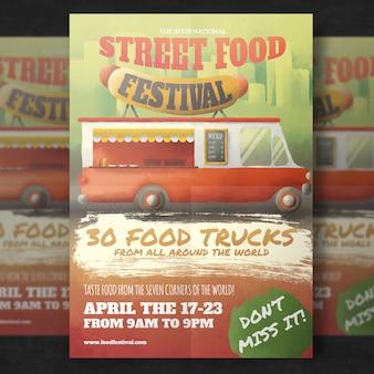 Cartaz do festival do alimento da rua