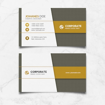 Carte moderne gold clean