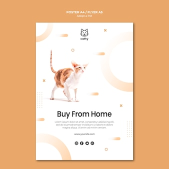Cartel para adoptar una mascota