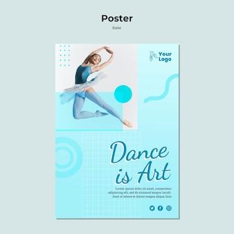 Cartel de bailarina de ballet con foto