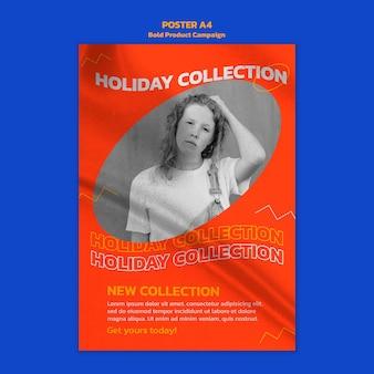 Cartel de campaña de producto con foto.