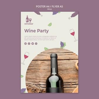 Cartel para cata de vinos.
