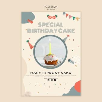 Cartel de celebración de cumpleaños a4