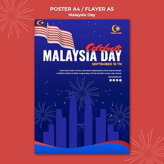 Cartel para la celebración del día de malasia.