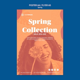 Cartel de la colección de rebajas de primavera