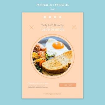 Cartel de comida y diseño de plantilla de volante.