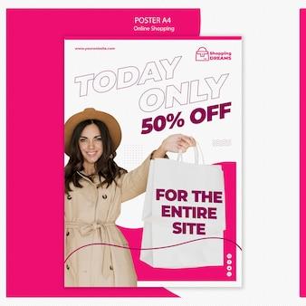 Cartel de compras en línea