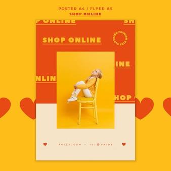 Cartel para compras en línea