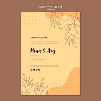 Cartel con concepto de boda