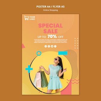 Cartel con concepto de compras en línea