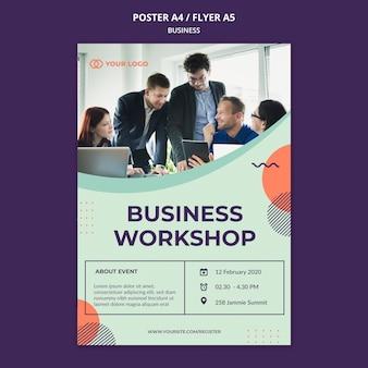 Cartel de concepto de taller de negocios