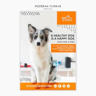 Cartel con concepto veterinario