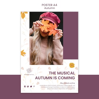Cartel para concierto de otoño