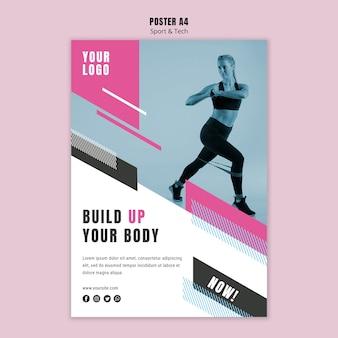 Cartel para deporte y fitness.
