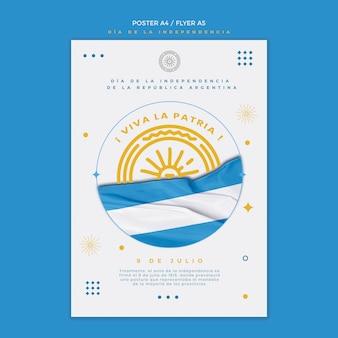 Cartel del día de la independencia de argentina