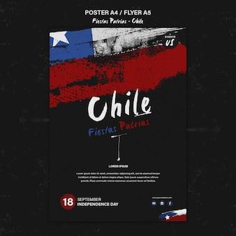 Cartel del día internacional de chile
