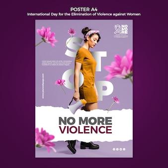 Cartel del día internacional para la eliminación de la violencia contra la mujer a4